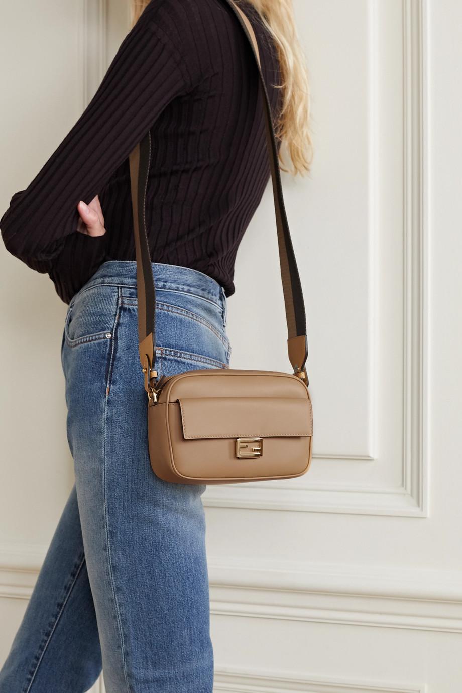 Fendi Baguette canvas-trimmed leather shoulder bag