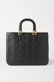 Fendi Medium embossed leather tote