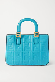 Fendi Small embossed leather tote