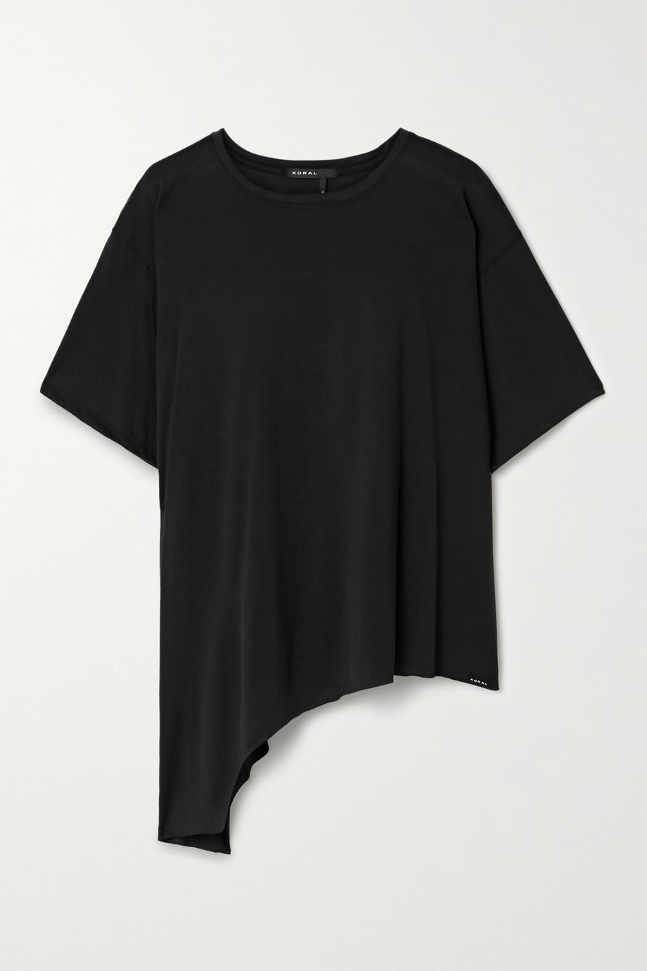 Koral Rastro asymmetric modal-blend jersey T-shirt