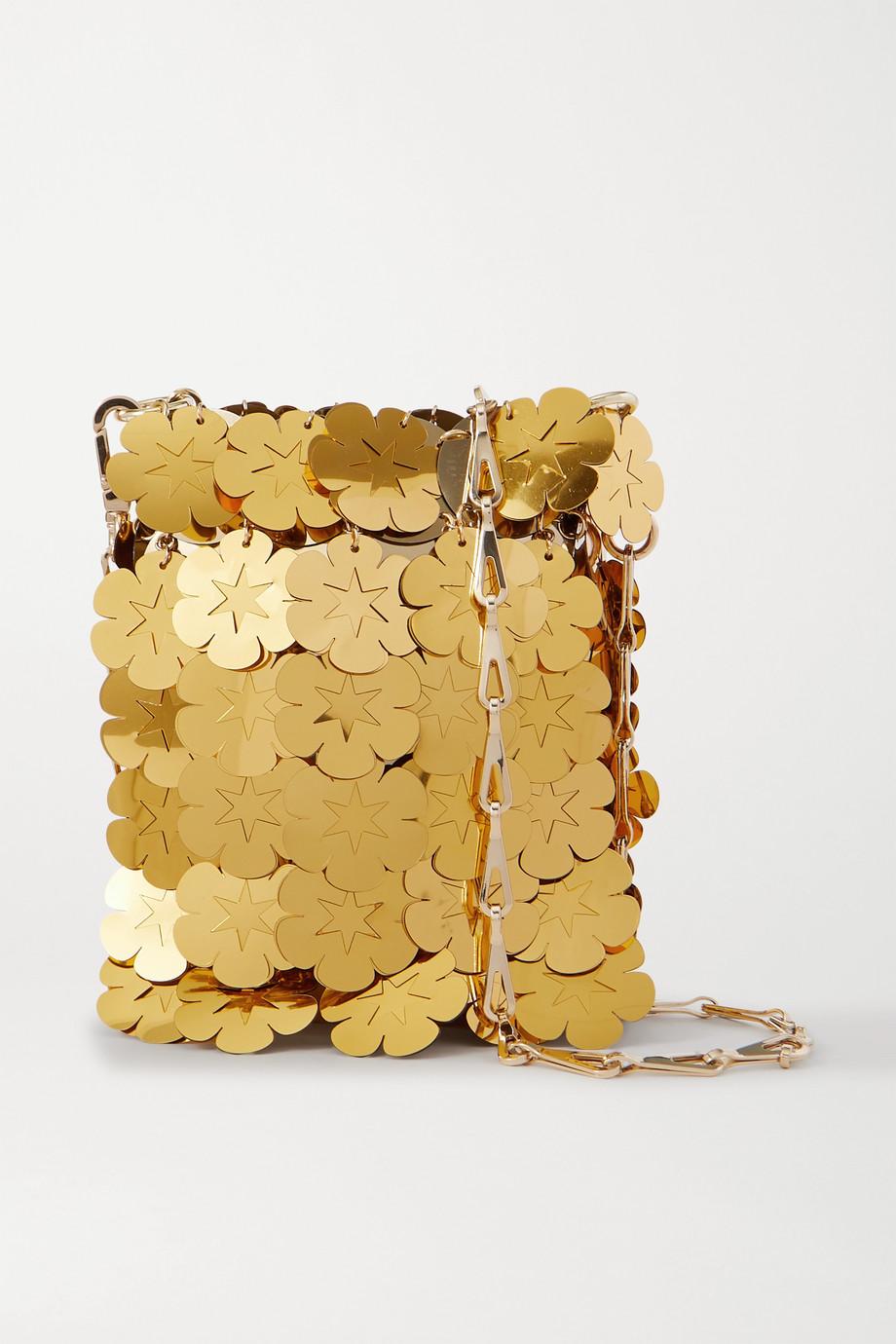 Paco Rabanne Sparkle Mini 1969 Schultertasche aus Metall-Mesh mit Pailletten
