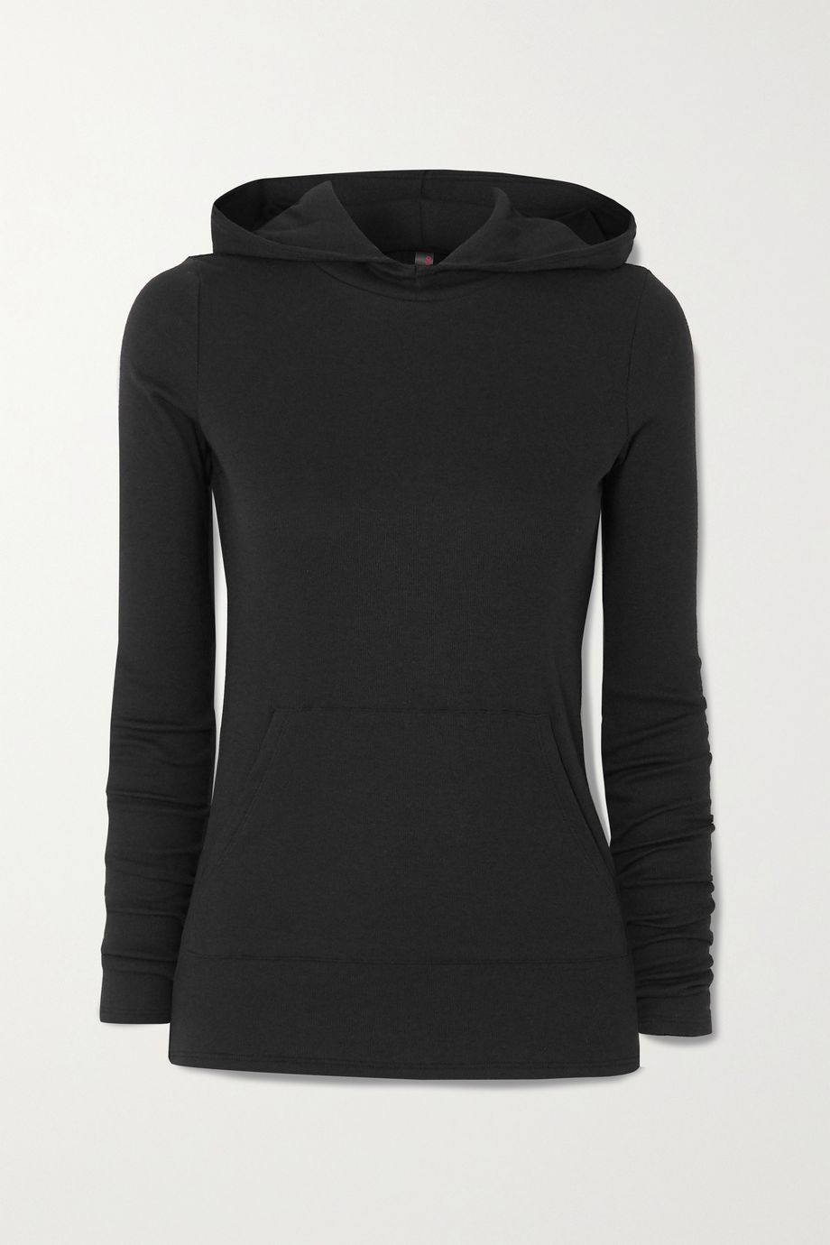 Commando Luxury ribbed stretch modal and Pima cotton-blend hoodie