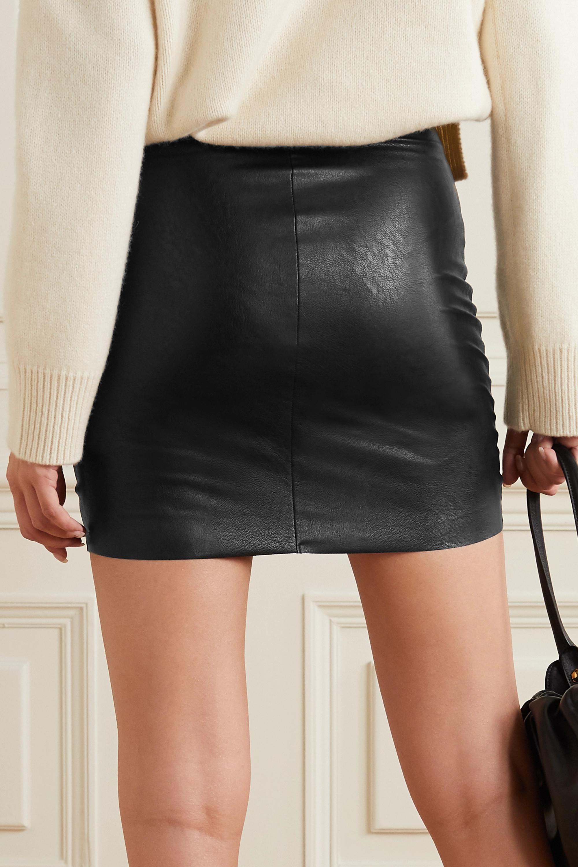 Commando Faux stretch-leather mini skirt