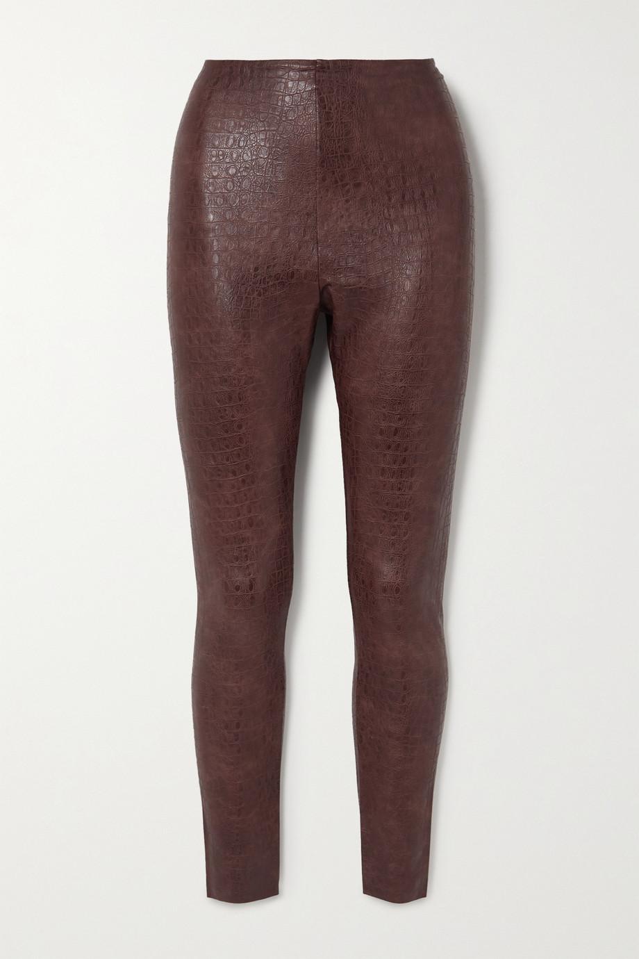Commando Stretch faux croc-effect leather leggings