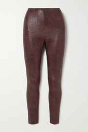 Commando Stretch faux croc-effect leather leggings