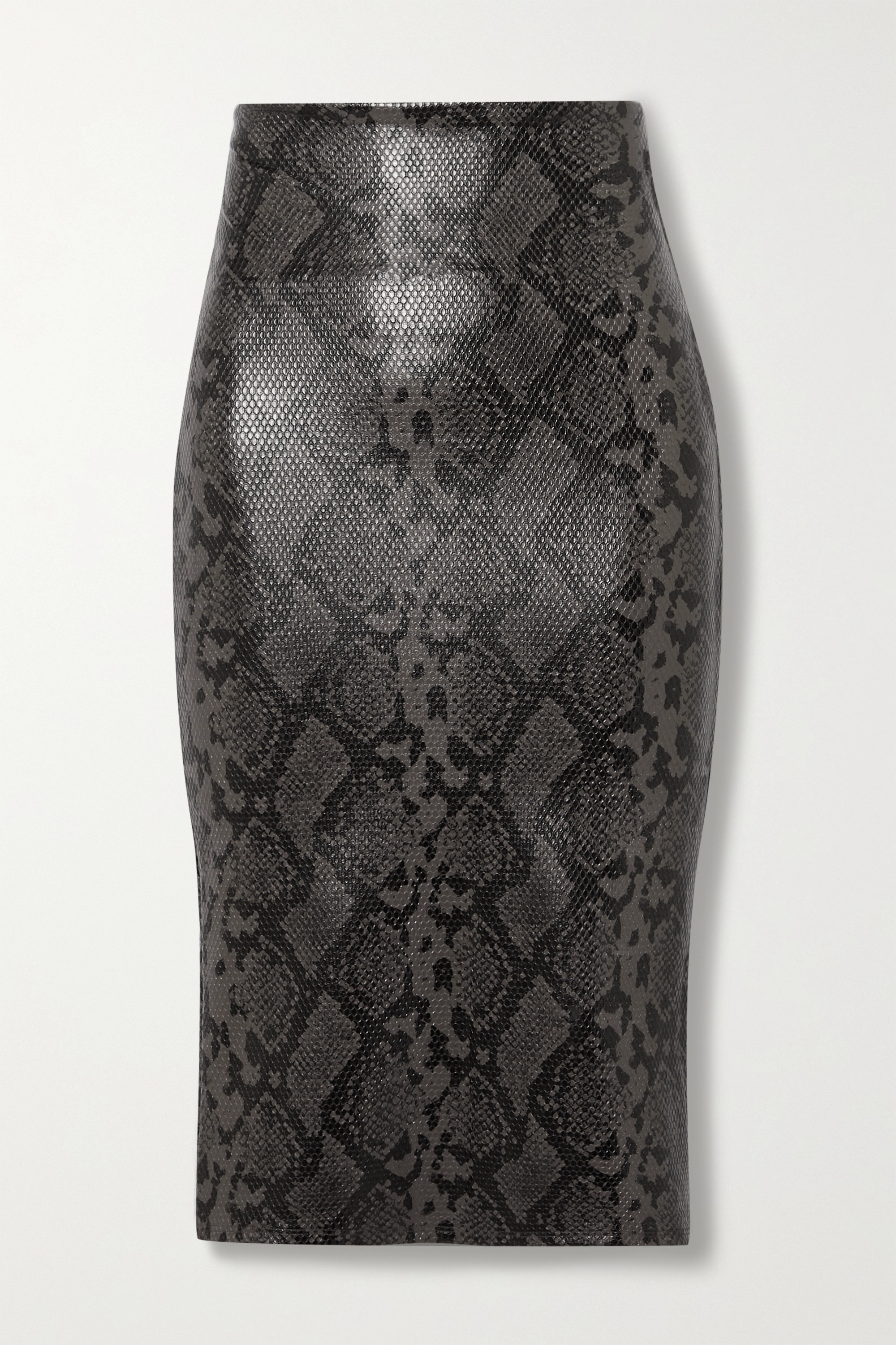 Commando Stretch faux snake-effect leather skirt