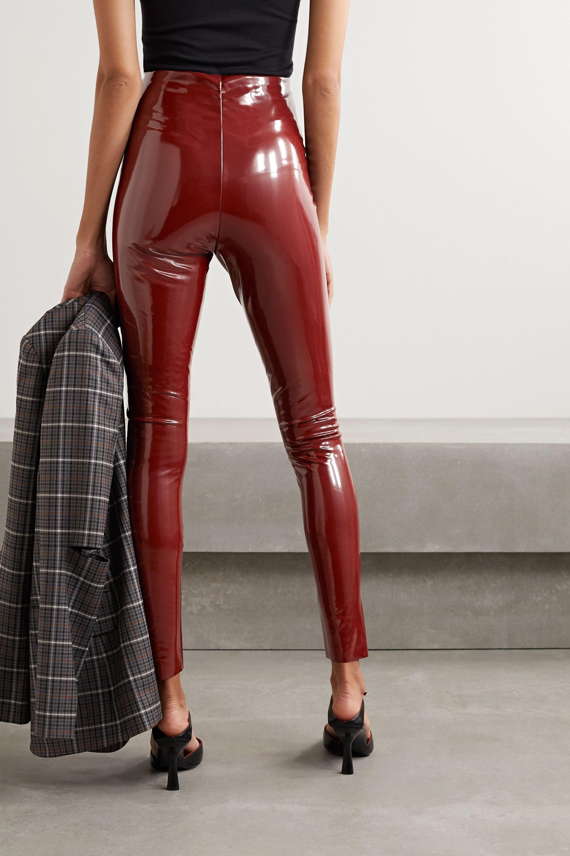 Commando Stretch faux patent-leather leggings