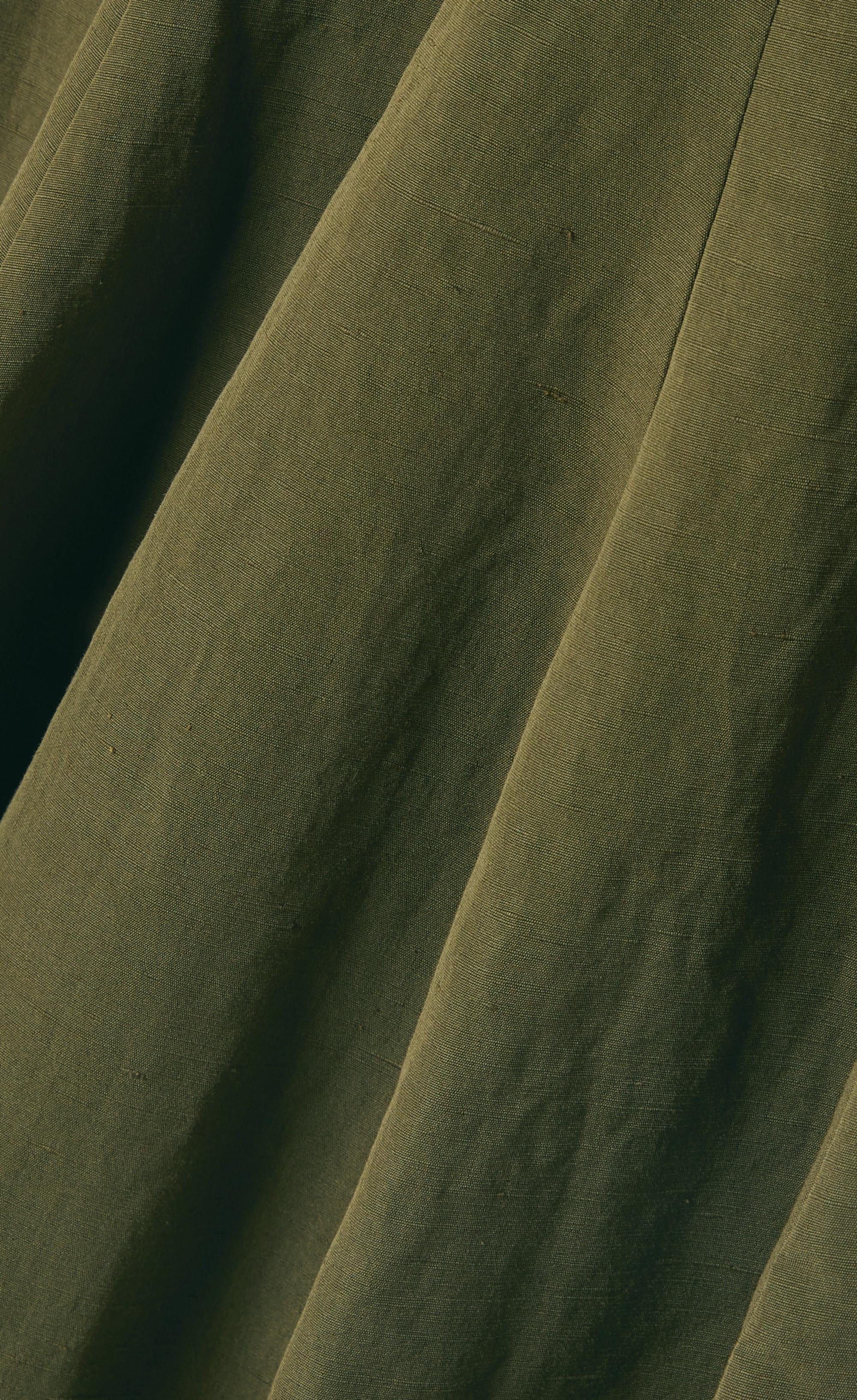 Brock Collection Midikleid aus einer Mischung aus Baumwolle, Leinen und Seide