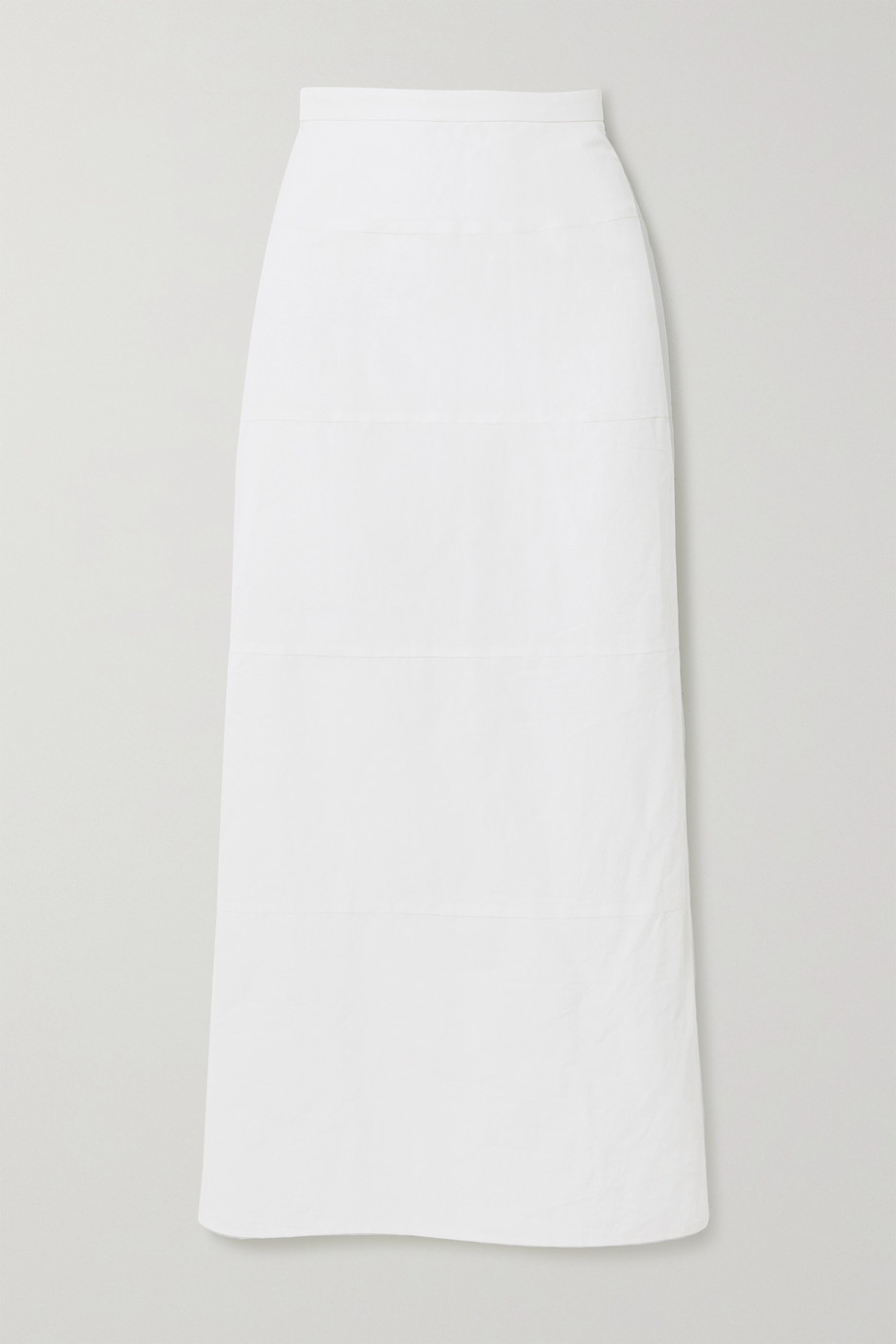 Brock Collection Paneled cotton and linen-blend poplin midi skirt