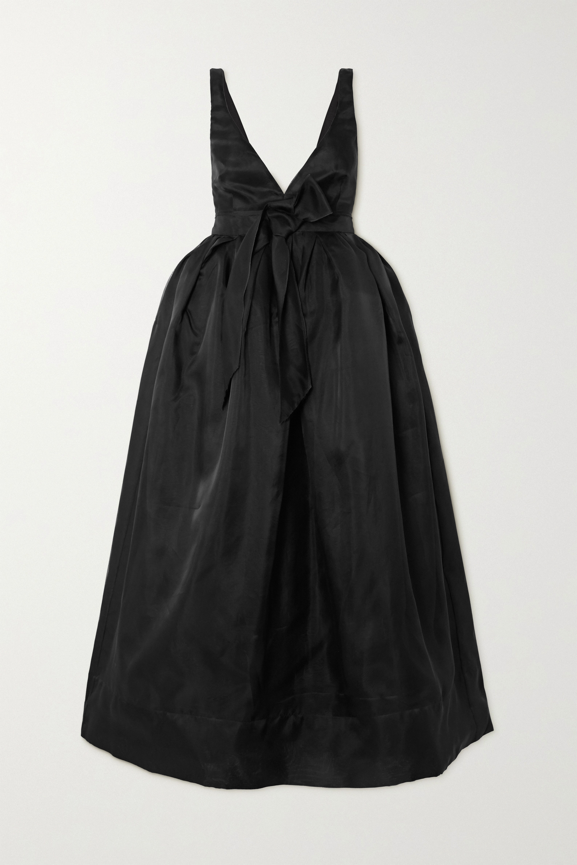 Brock Collection Bow-detailed silk-organza midi dress