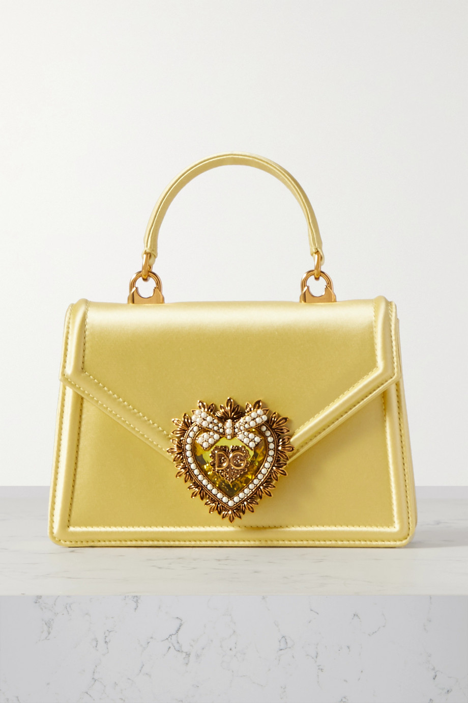 Dolce & Gabbana Devotion mini embellished satin tote