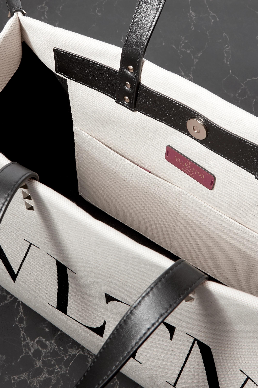 Valentino Sac à main en toile imprimée à finitions en cuir Medium