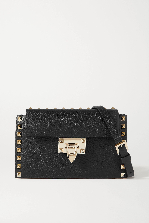 Valentino Valentino Garavani Rockstud textured-leather shoulder bag