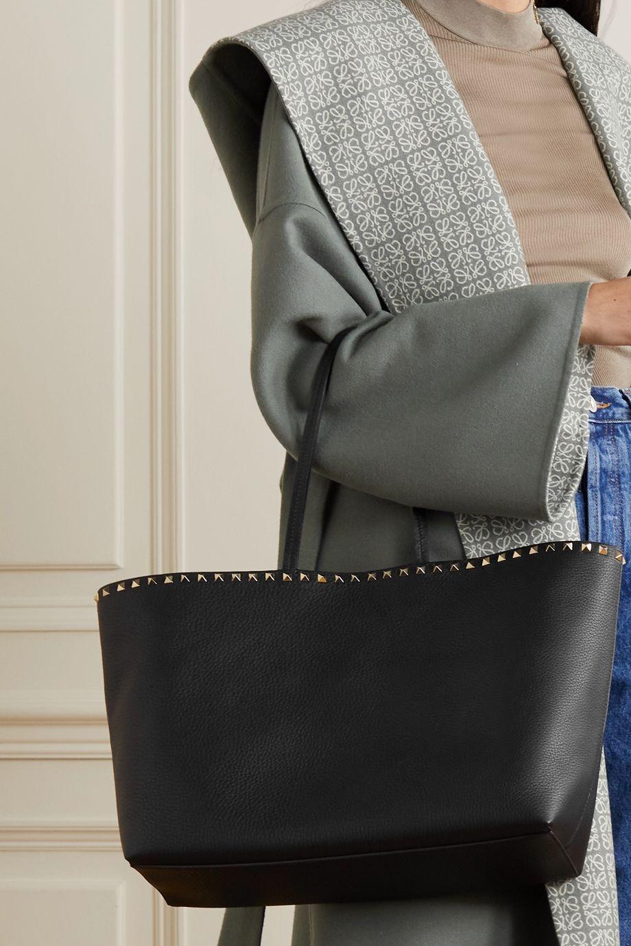 Valentino Valentino Garavani Rockstud textured-leather tote