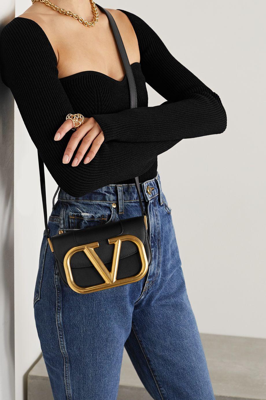 Valentino Valentino Garavani Supervee small leather shoulder bag