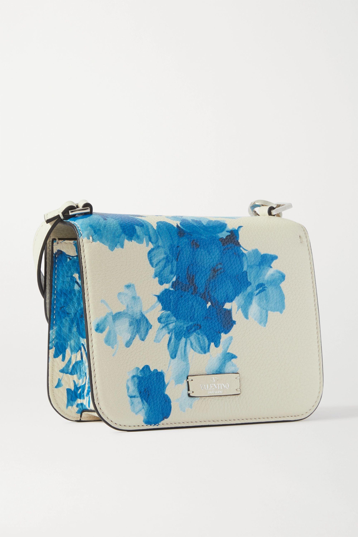 Valentino Valentino Garavani VSLING small floral-print textured-leather shoulder bag