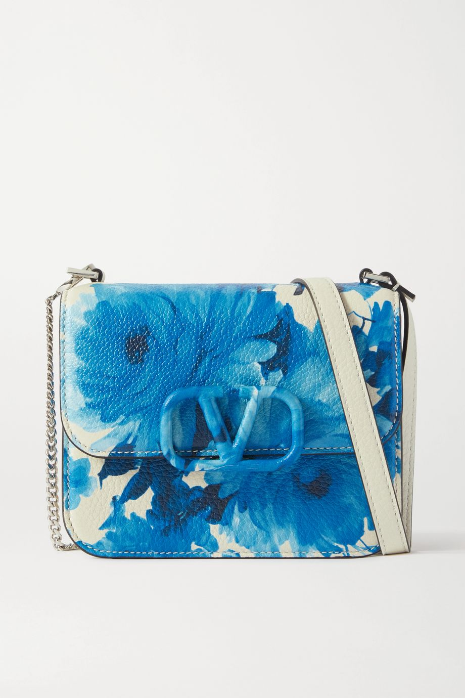 Valentino Valentino Garavani VSLING small floral-print textured-leather shoulder bag