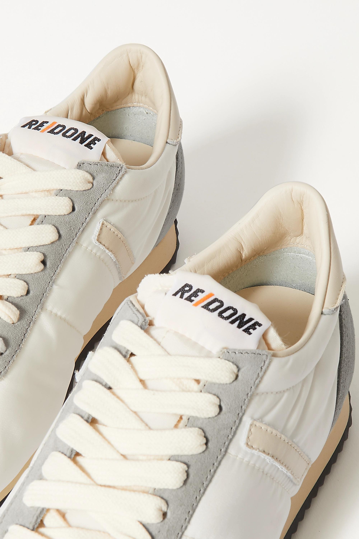 RE/DONE 70s Runner Sneakers aus Shell mit Besätzen aus Veloursleder und Leder