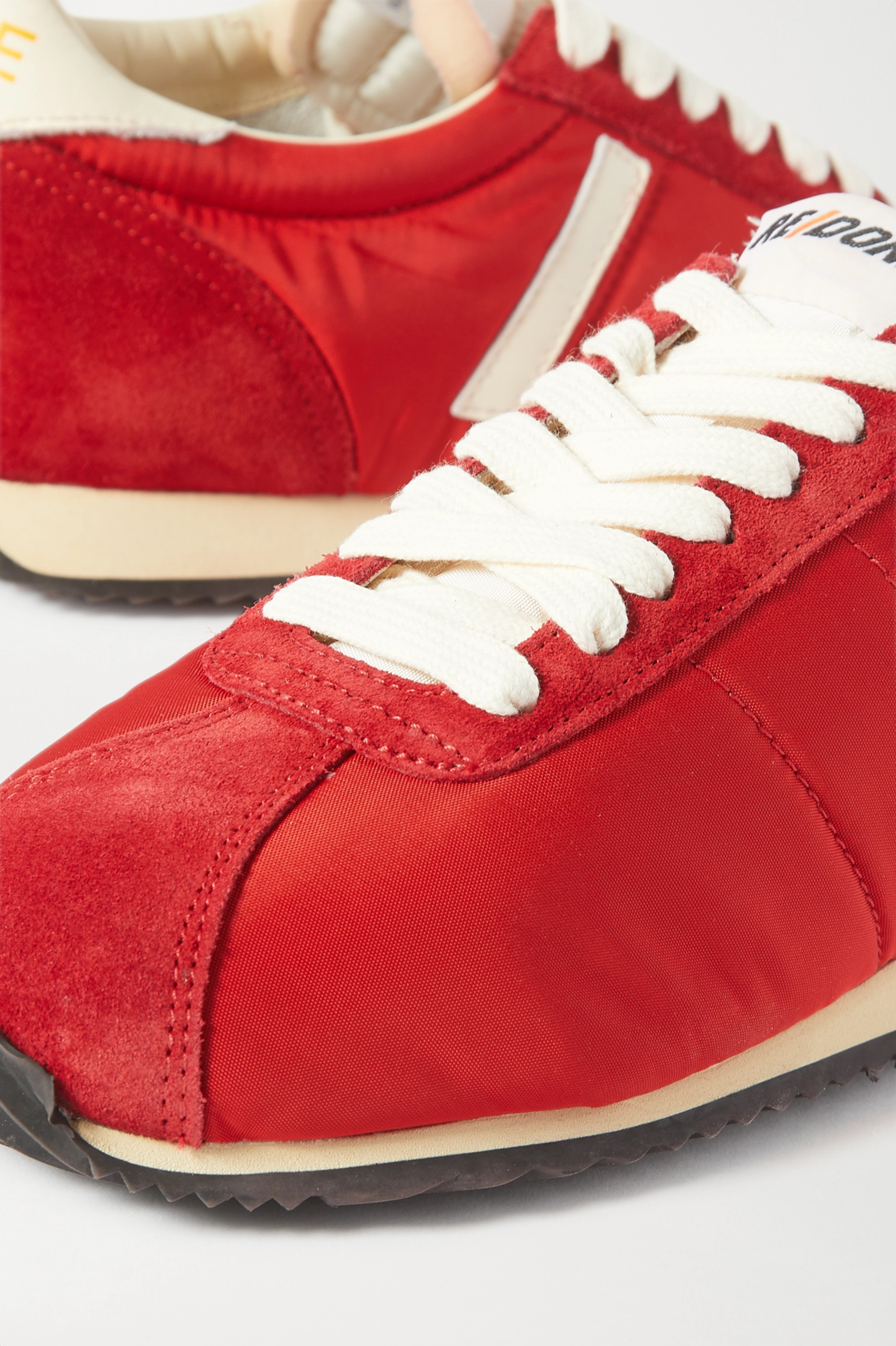 RE/DONE 70s Runner suede and leather-trimmed shell sneakers