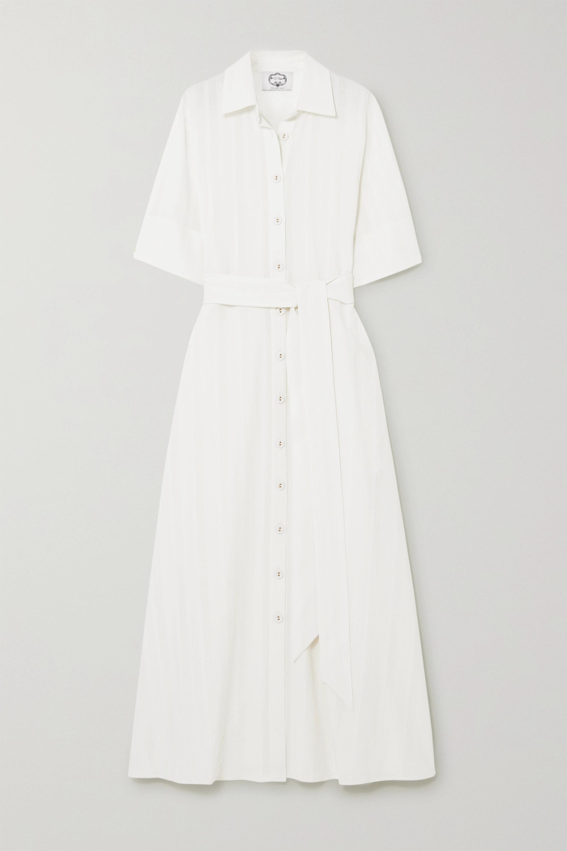 Evi Grintela Valerie cotton-crepe maxi shirt dress