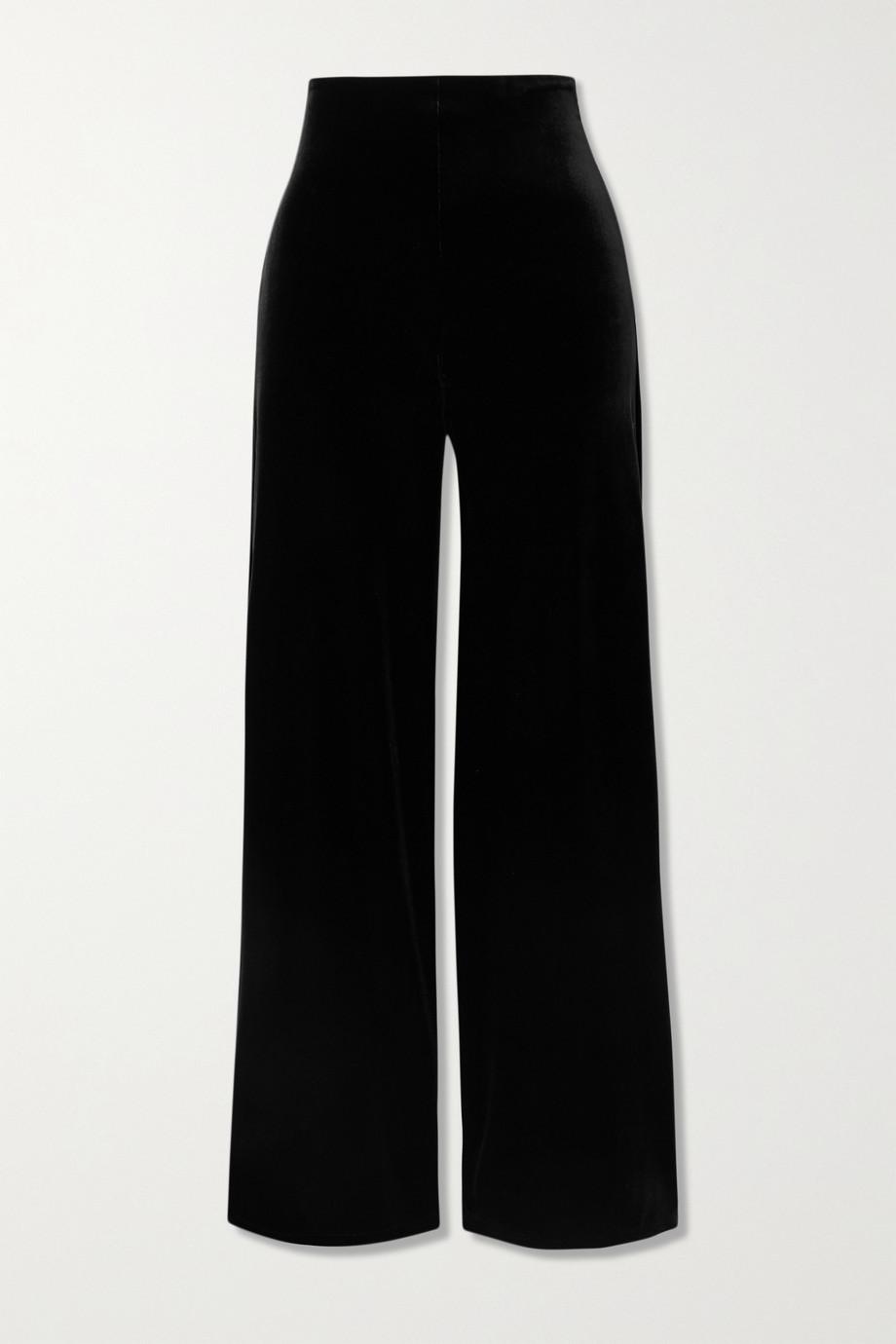 Commando Stretch-velvet wide-leg pants