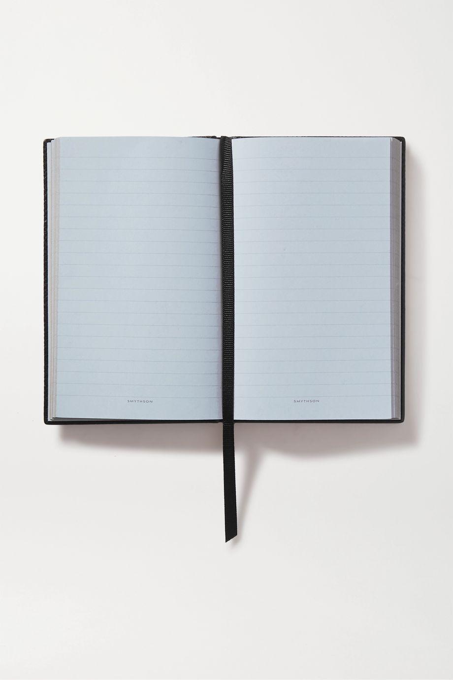 "Smythson Panama ""Busy Bee"" 纹理皮革笔记本"