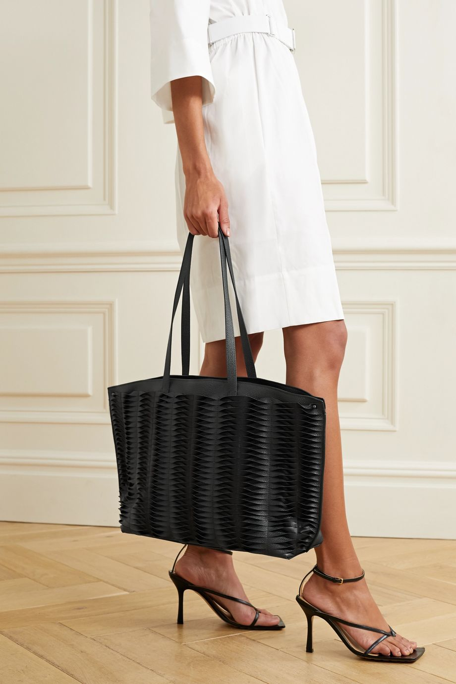 Akris Ai cutout leather tote