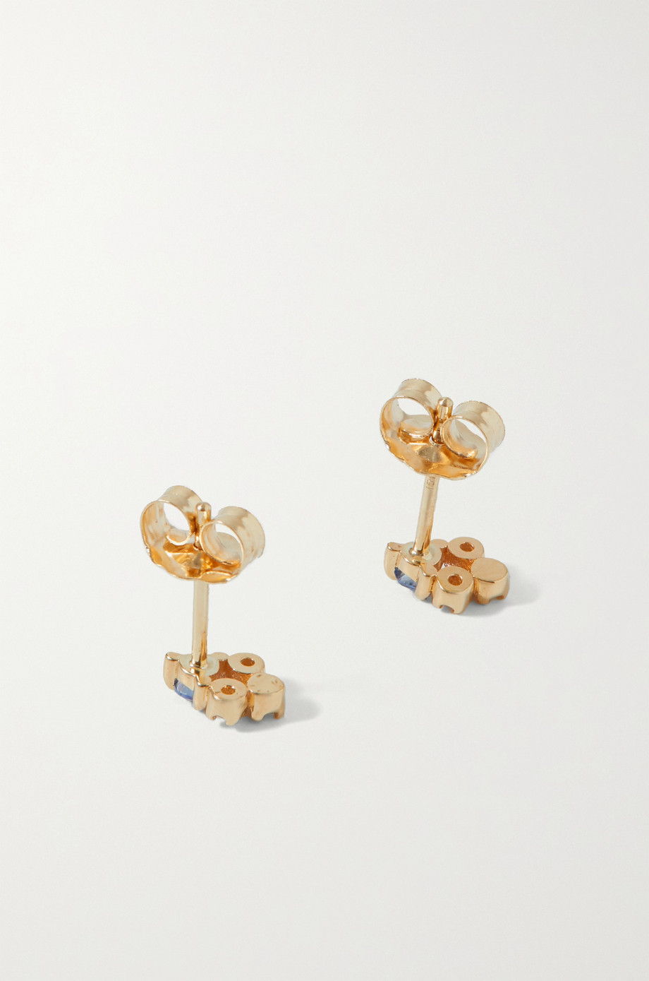 Wwake Posy gold, sapphire and diamond earrings