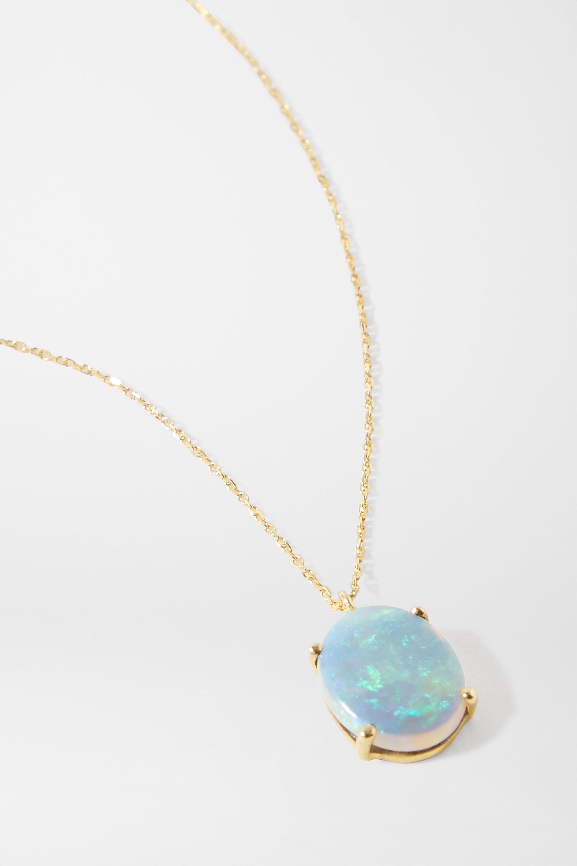 Wwake 14-karat gold opal necklace