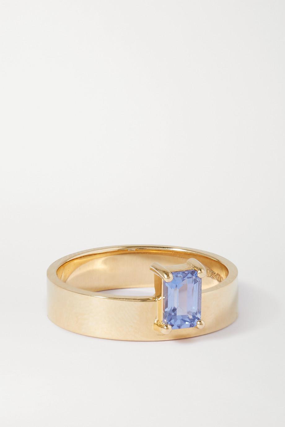 Wwake Monolith 14-karat gold sapphire ring