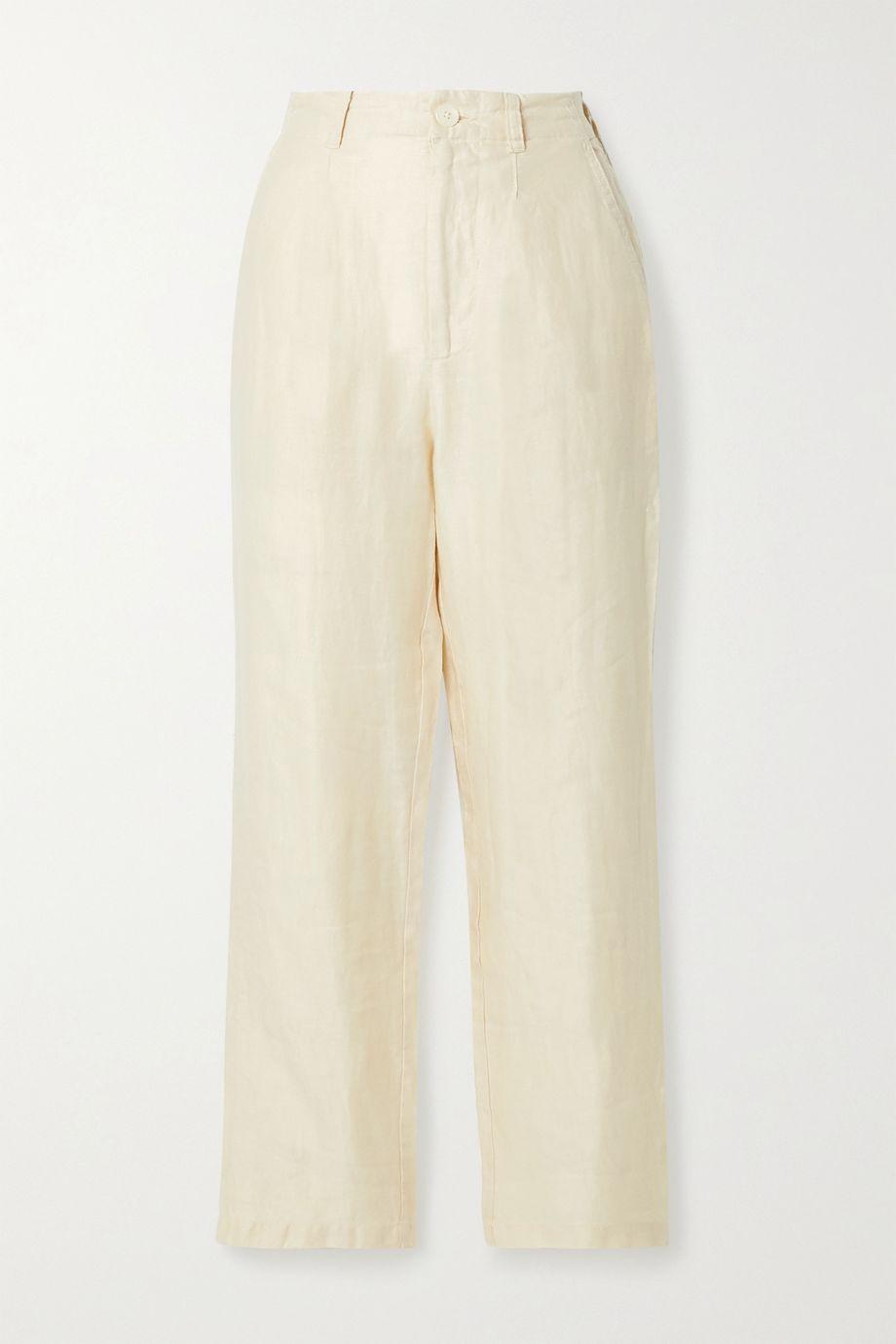 Alex Mill Boy pleated linen-twill pants