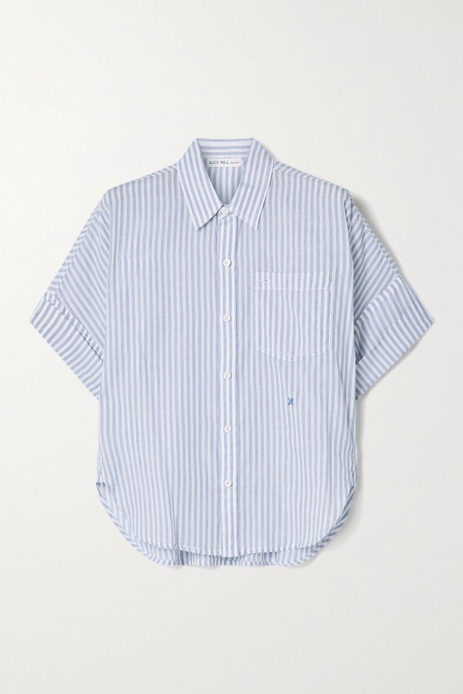 Alex Mill Charlie striped cotton-voile shirt