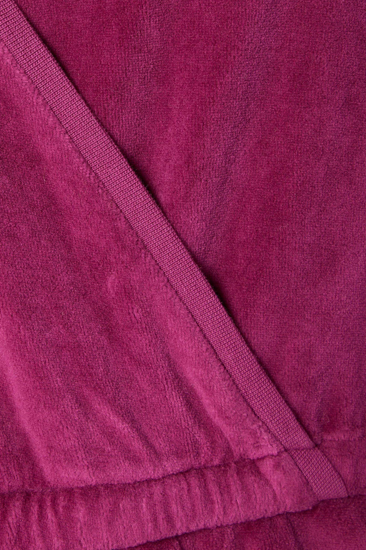 Suzie Kondi Wrap-effect cotton-blend velour jumpsuit