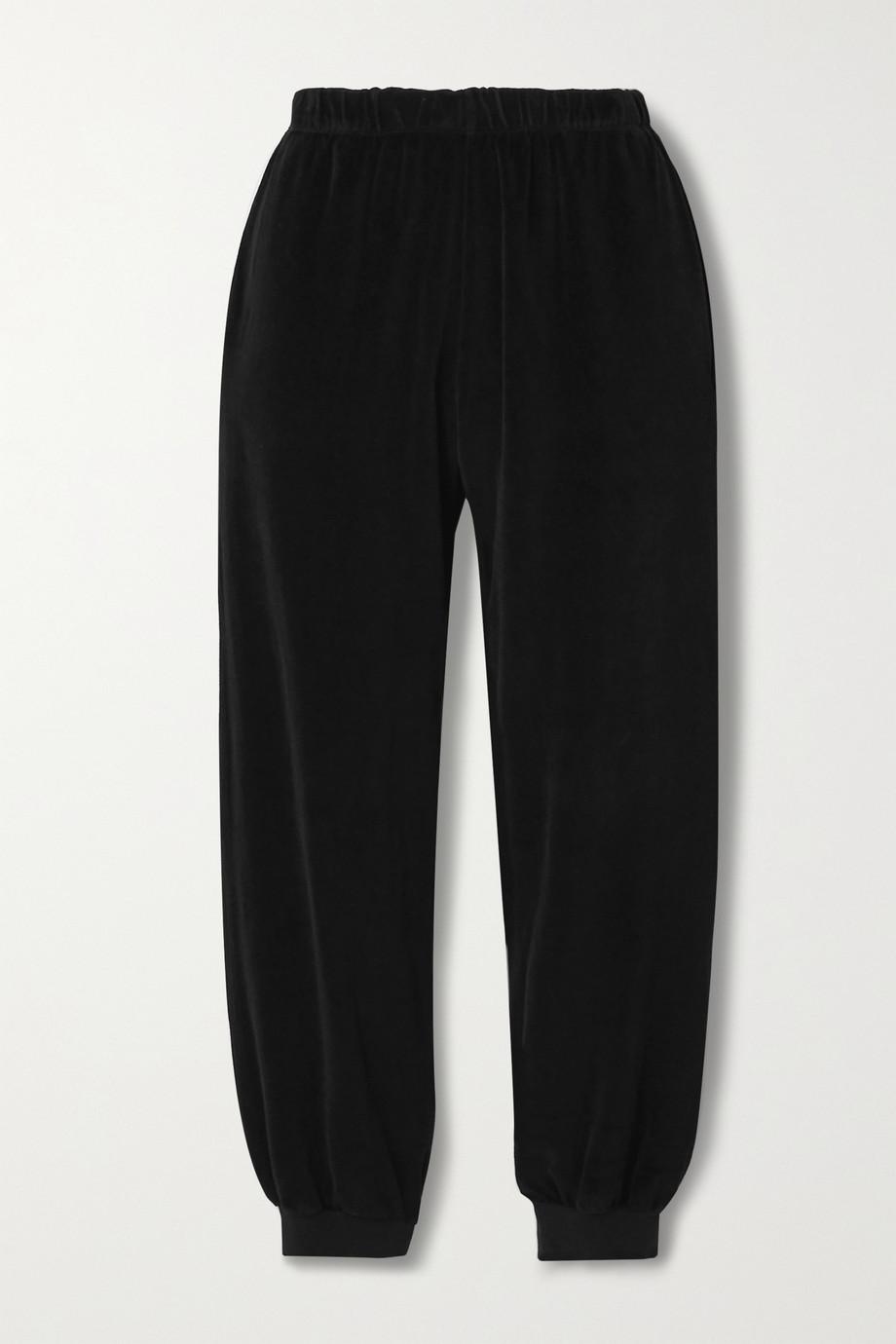 Suzie Kondi Pantalon de survêtement en velours de coton mélangé