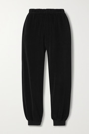 Suzie Kondi Cotton-blend velour track pants