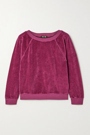Suzie Kondi Stretch cotton-blend velour sweatshirt