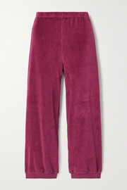 Suzie Kondi Stretch cotton-blend velour track pants