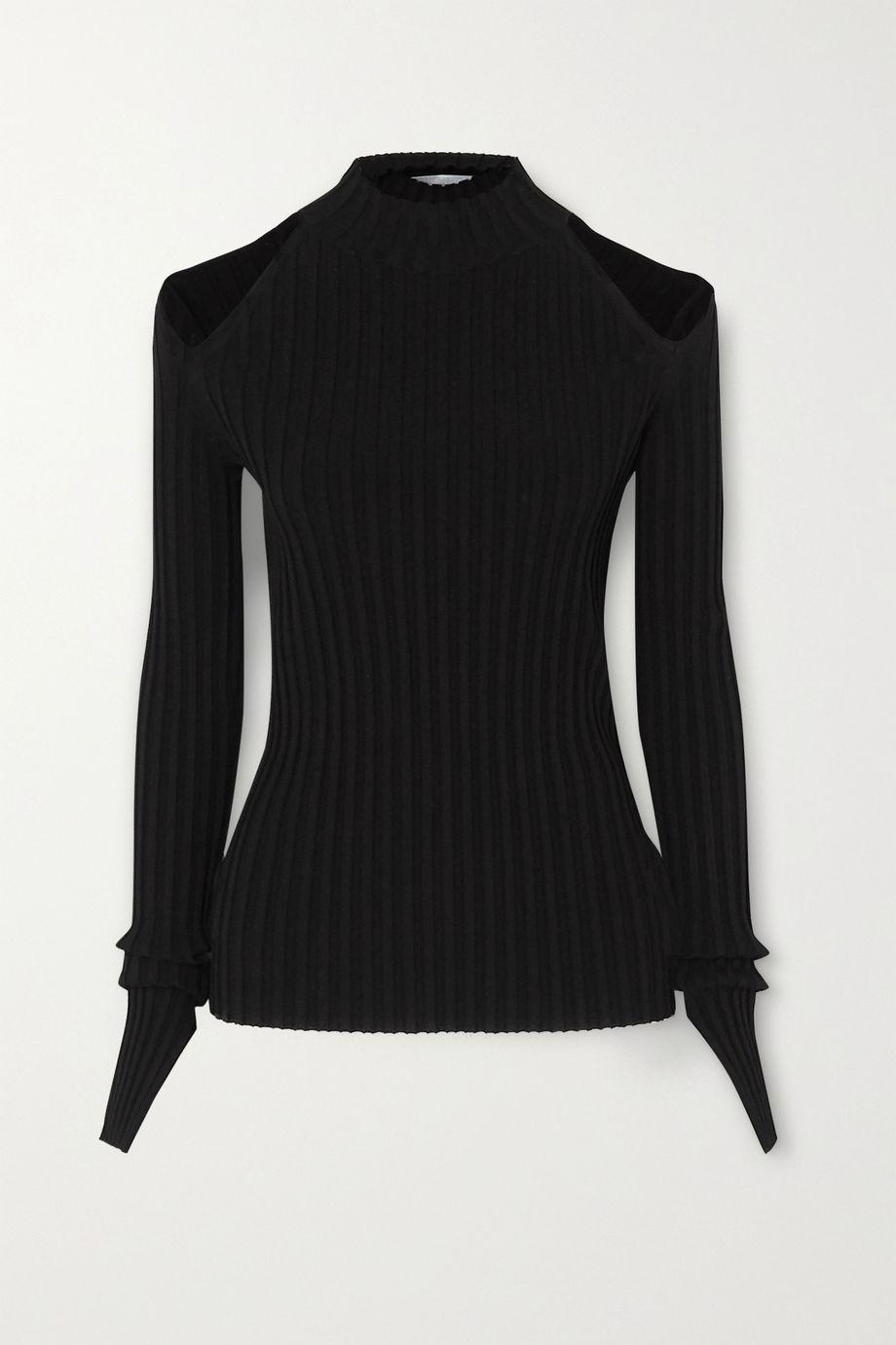 Helmut Lang Cutout ribbed-knit top