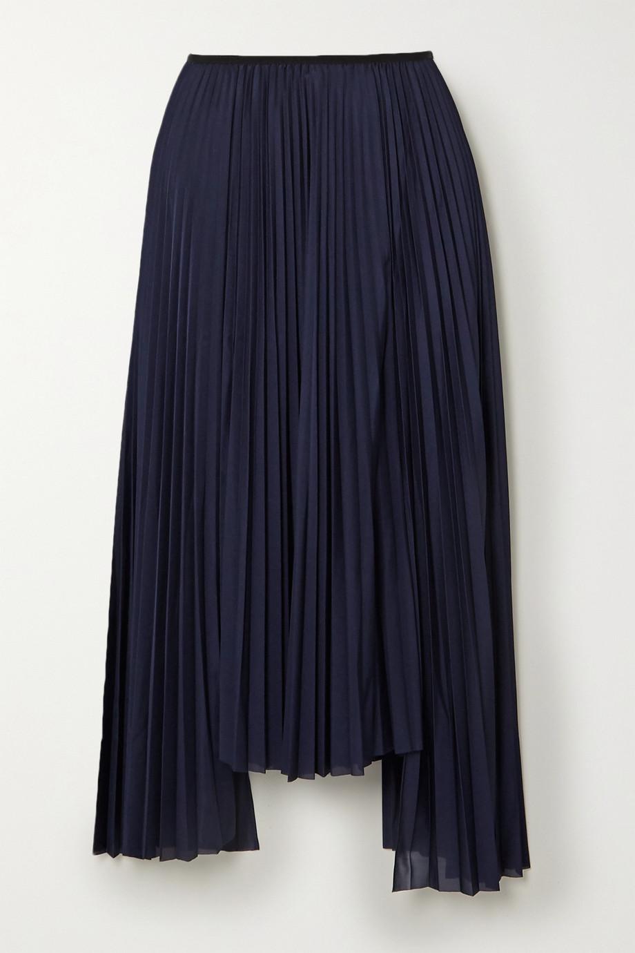 Helmut Lang Jupe midi asymétrique plissée en jersey
