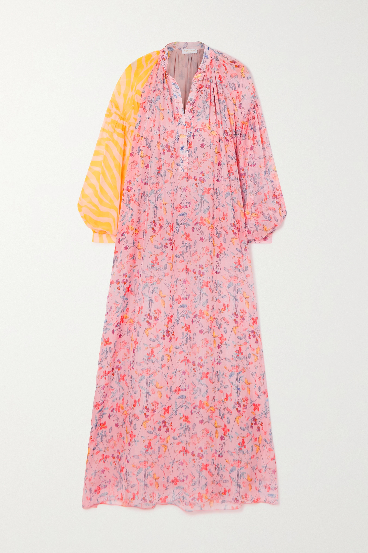 Eywasouls Malibu Belen paneled printed voile maxi dress