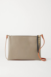 Marni Pochette large two-tone leather shoulder bag