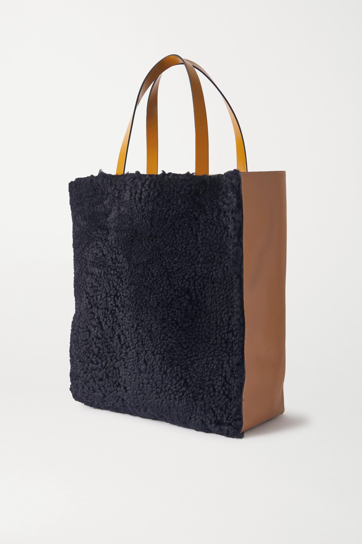 Marni Sac à main en peau lainée et en cuir Museo