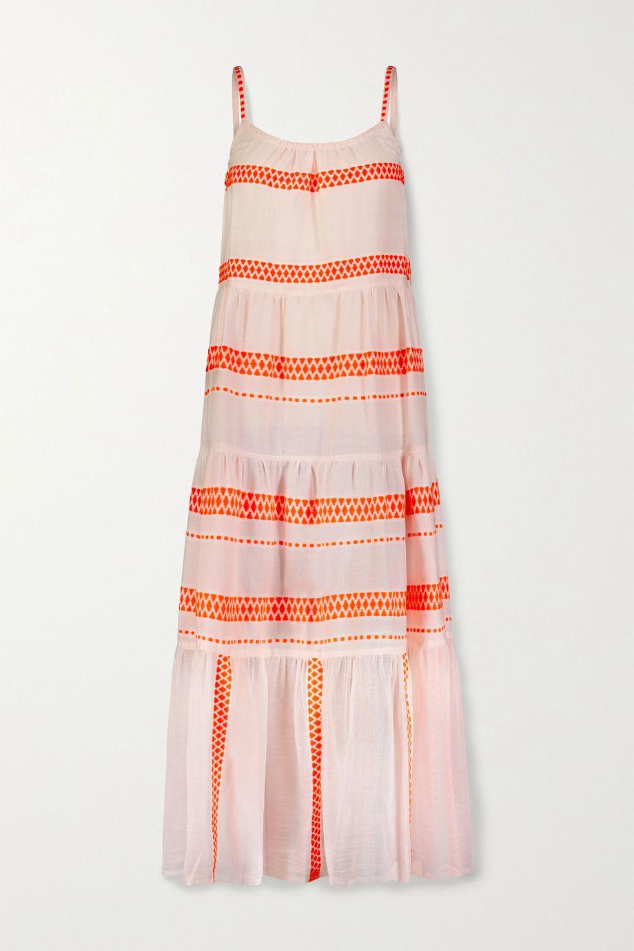 LemLem Jemari tiered striped cotton-blend gauze midi dress