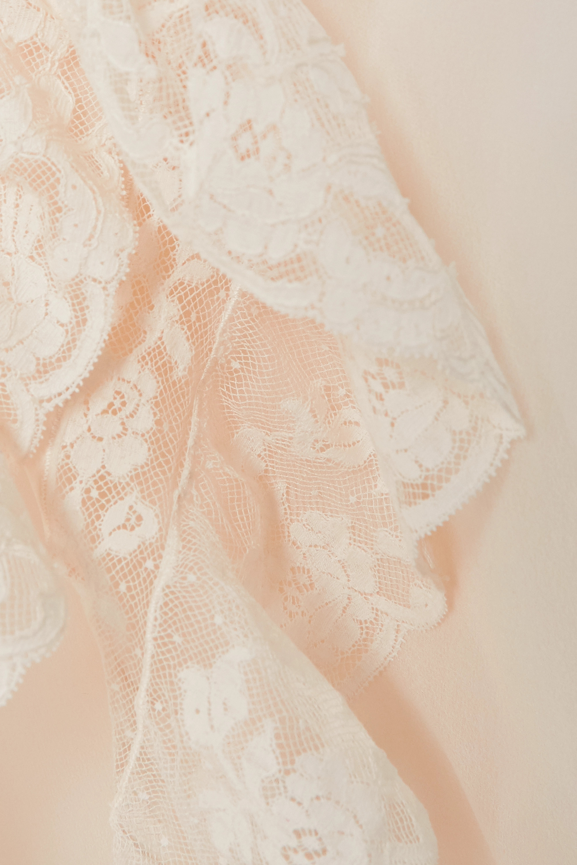 Loretta Caponi Agnes lace-trimmed silk-georgette nightdress