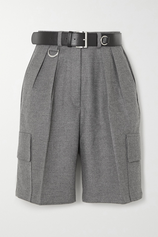 Frankie Shop Linda belted felt cargo shorts