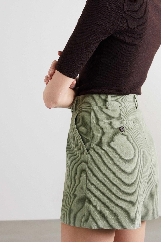Frankie Shop Gala cotton-corduroy shorts