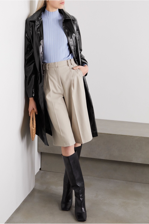 Frankie Shop Camille textured-vinyl coat