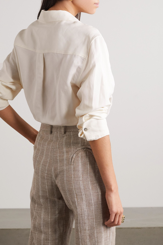 Blazé Milano Savannah Berber linen and silk-blend twill shirt
