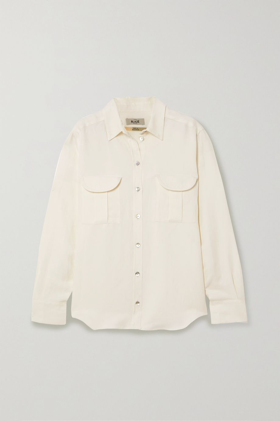 Blazé Milano Savannah Berber linen and silk-blend twill shirt