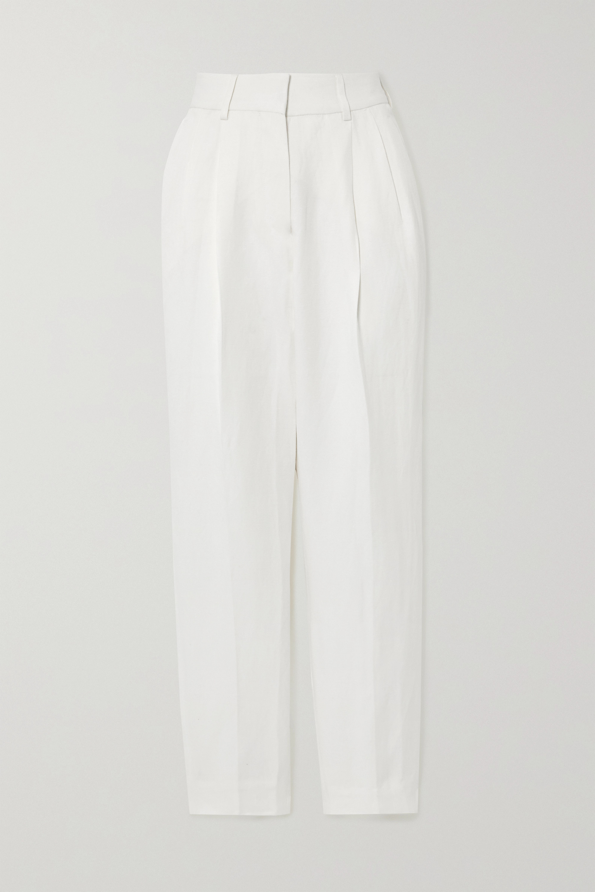 Blazé Milano Savannah Banker linen and silk-blend straight-leg pants